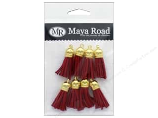 Maya Road Products Vintage Tassels Gold Cap Fire Red