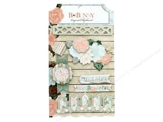 scrapbooking & paper crafts: Bo Bunny Layered Chipboard Stickers Felicity