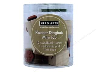scrapbooking & paper crafts: Hero Arts Rubber Stamp Mini Tub Planner Dingbats