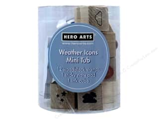 scrapbooking & paper crafts: Hero Arts Rubber Stamp Mini Tub Weather Icons