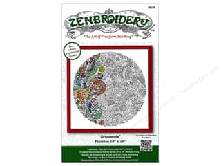 "sewing & quilting: Design Works Zenbroidery Fabric 10""x 10"" Christmas Ornament"