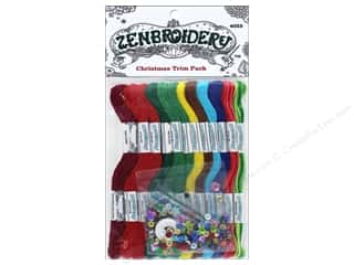 sewing & quilting: Design Works Zenbroidery Trim Pack Floss Christmas