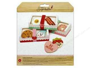craft & hobbies: American Crafts Collection Sweet Sugarbelle Cookie Box Double Pink/Red/White 3pc