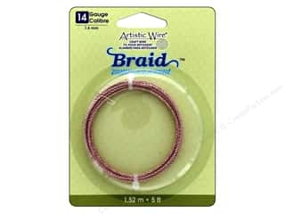 craft & hobbies: Artistic Wire 14 ga. Round Braided Wire 5 ft. Rose Gold Color