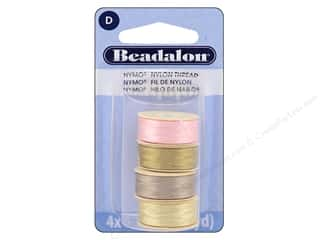 Beadalon Nymo Thread Size D 4 pc. Variety Pack Beach Tones