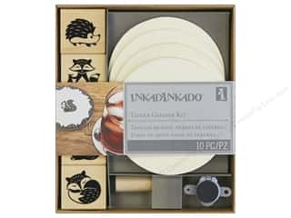 Inkadinkado Wood Stamp Tavern Coaster Kit