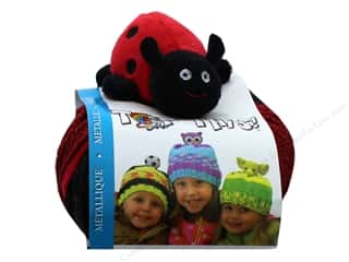 yarn & needlework: DMC Yarn Kit Top This Metallic Ladybug
