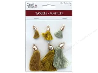 Clearance: Mulitcraft Embellishments Tassels 2cm Metallique 6pc
