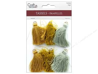 Mulitcraft Embellishments Tassels 4cm Metallique 6pc