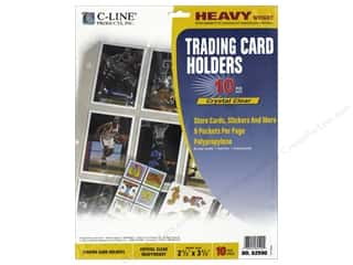 scrapbooking & paper crafts: C-Line Trading Card Holder 9 x 11 1/2 in. Top Load 10 pc.