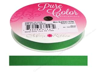 Morex Grosgrain Ribbon 3/8 in. x 15 yd. Classic Green