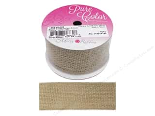 gifts & giftwrap: Morex Ribbon Wire Burlap 1.5 in. x 3 yd Natural