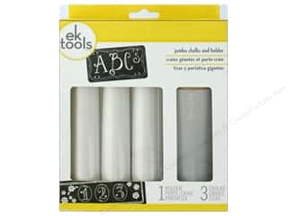 EK Tool Jumbo Chalk and Holder Set White