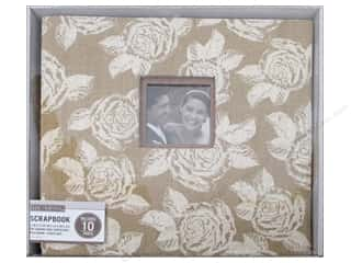 scrapbooking & paper crafts: K & Company 12 x 12 in. Scrapbook Window Album Burlap Floral