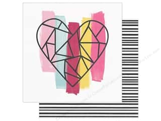 "Clearance: Simple Stories Collection Love & Adore Paper 12""x 12"" With All My Heart (25 pieces)"