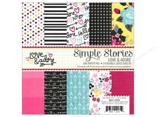 "Simple Stories: Simple Stories Collection Love & Adore Paper Pad 6""x 6"""