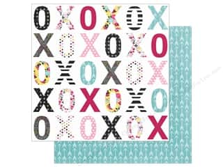 "Simple Stories: Simple Stories Collection Love & Adore Paper 12""x 12"" Sealed With A Kiss (25 pieces)"