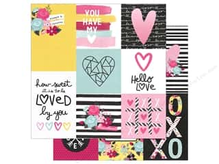 "Simple Stories: Simple Stories Collection Love & Adore Paper 12""x 12"" Vertical Elements 4""x 4"" & 4""x 6"" (25 pieces)"