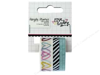 Simple Stories: Simple Stories Collection Love & Adore Washi Tape