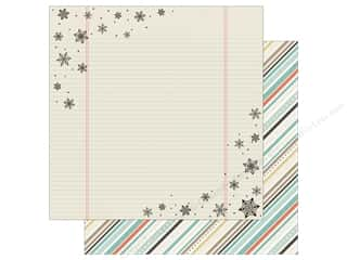 "Simple Stories Collection Winter Wonderland Paper 12""x 12"" Frostbite (25 pieces)"