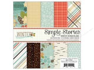 "Simple Stories: Simple Stories Collection Winter Wonderland Paper Pad 6""x 6"""