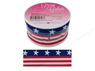 Morex Ribbon Wire Patriotic 1.5 in. x 3 yd Red/White/Blue