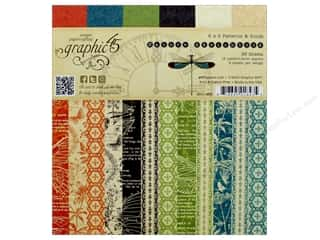 """Graphic 45 Collection Nature Sketchbook 6""""x 6"""" Paper Pad"""