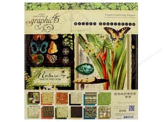 "Sale: Graphic 45 Collection Nature Sketchbook 12""x 12"" Paper Pad"