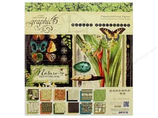 "Graphic 45: Graphic 45 Collection Nature Sketchbook 8""x 8"" Paper Pad"