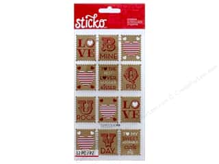 stickers: EK Sticko Stickers Love Stamps