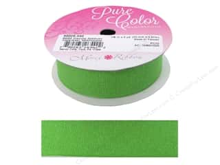 Morex Dazzle Glitter Grosgrain Ribbon 7/8 in. x 5 yd. Apple Green