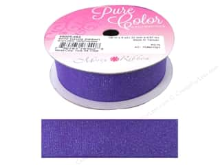 Morex Dazzle Glitter Grosgrain Ribbon 7/8 in. x 5 yd. Grape