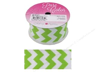 "Morex Ribbon Sugar Chevron 1.5""x 3yd Lime"