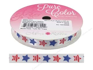 "Morex Ribbon Betsy Ross 3/8""x 5yd Red/Blue"