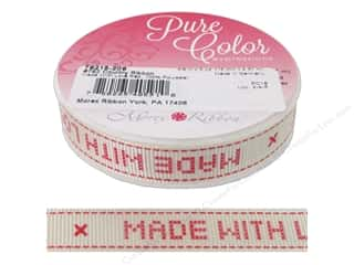 "Morex Ribbon Country 5/8""x 5yd Made With Love Red"