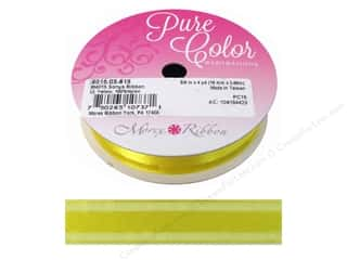"Organza: Morex Ribbon Sonya 5/8""x 4yd Light Yellow"