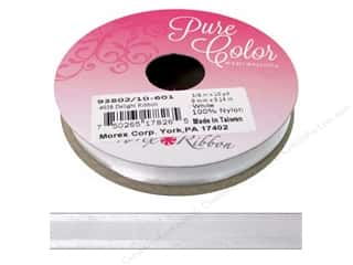 Morex Ribbon Delight 3/8  in. x 10 yd White