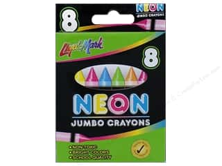 craft & hobbies: Liquimark Crayons 8 pc. Jumbo Neon