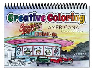 Paper Accents Creative Coloring Pocket Americana Coloring Book