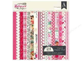 "Authentique Collection Beloved Paper Pad 12""x 12"""