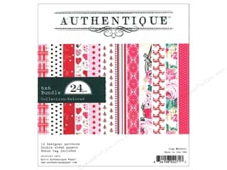 "scrapbooking & paper crafts: Authentique Collection Beloved Bundle Pad 6""x 6"""