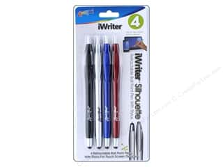 Liquimark iWriter Pen Silhouette Ball Point Black 4pc