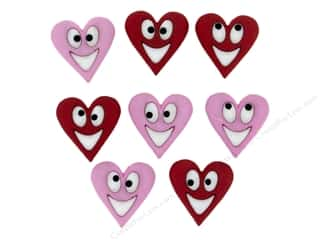 novelties: Jesse James Dress It Up Embellishments Happy Hearts