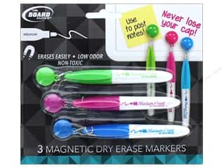 Art School & Office: The Board Dudes Dry Erase Markers 3 pc. Mini Magnetic