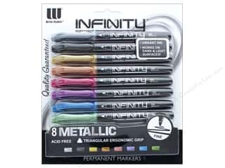 The Board Dudes Infinity Permanent Markers Metallic 8 pc.