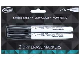 Thin point black marker: The Board Dudes Dry Erase Marker Medium Point 2 pc. Black