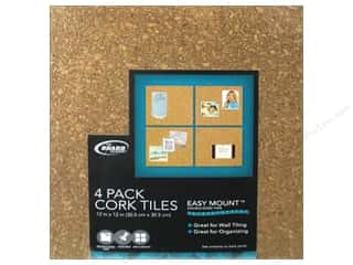 The Board Dudes Cork Tile 1/4 x 12 x 12 in. Light 4 pc.