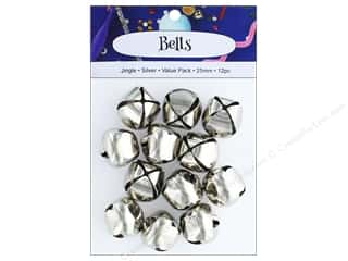 PA Essentials Jingle Bells 1 in. 12 pc. Silver