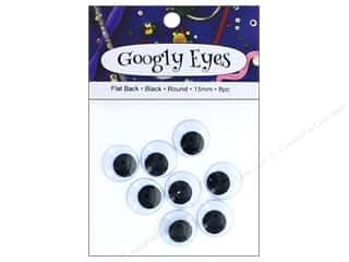 PA Essentials Googly Eyes 5/8 in. Round 8 pc. Black