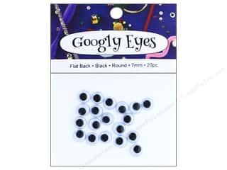 PA Essentials Googly Eyes 5/16 in. Round 20 pc. Black